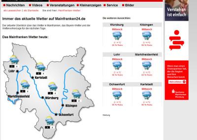 Mainfranken24.de Service Wetter