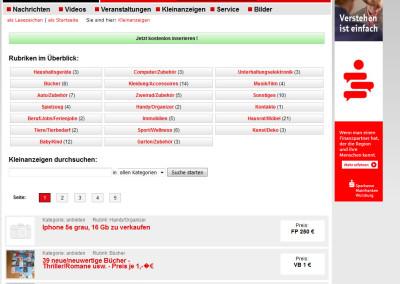 Mainfranken24.de kostenlose Kleinanzeigen