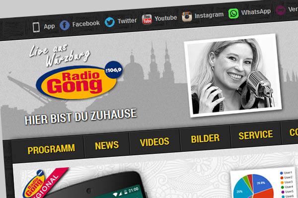 Internetseite www.radiogong.com