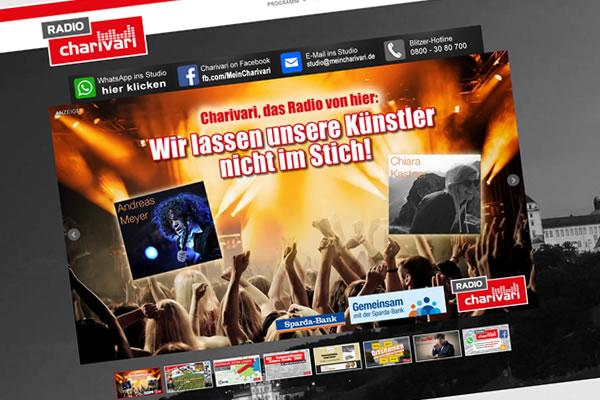 Internetseite www.meincharivari.de